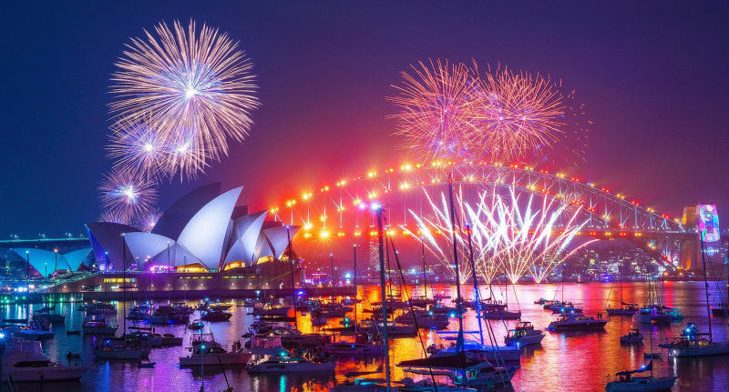 A stock image of Sydney Harbour's New Year's Eve celebration.