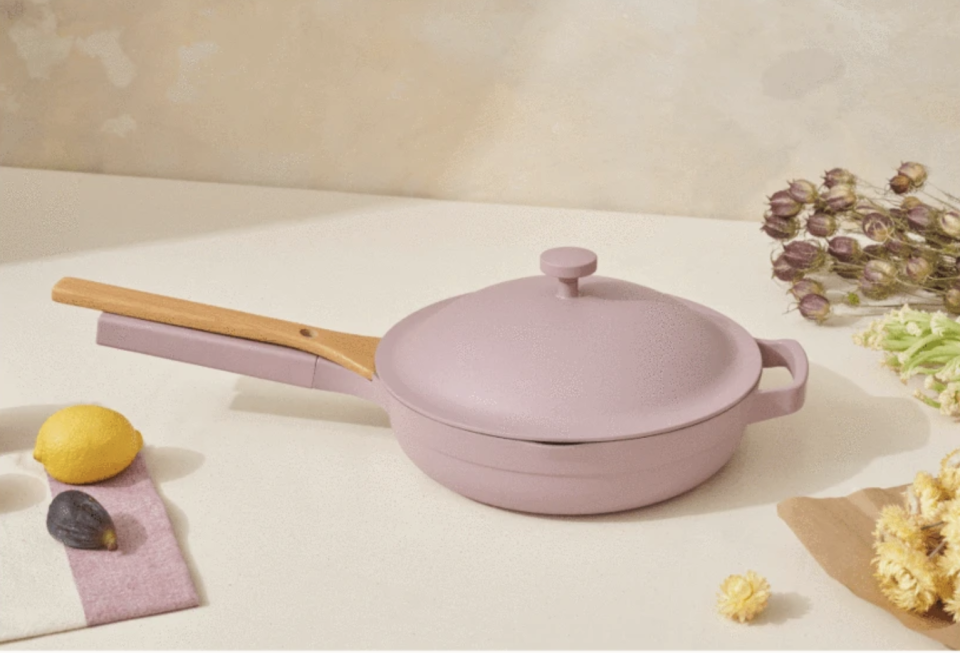 The Always Pan is back in stock in a dreamy lavender shade (Image via Our Place)