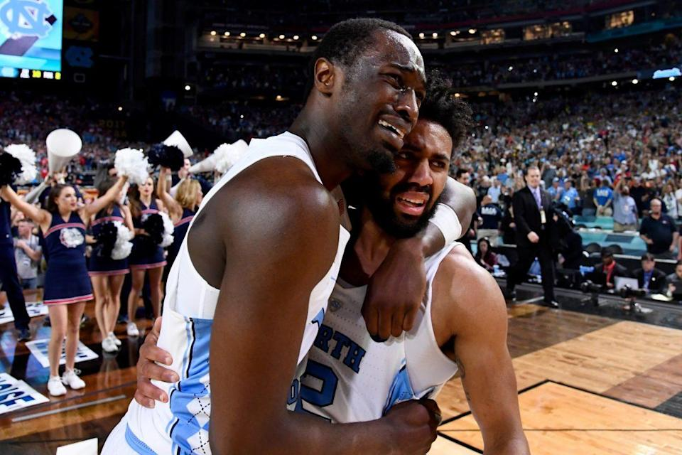 Theo Pinson and Joel Berry both withdrew from the draft to give North Carolina one of the nation's top backcourts next season. (Getty)
