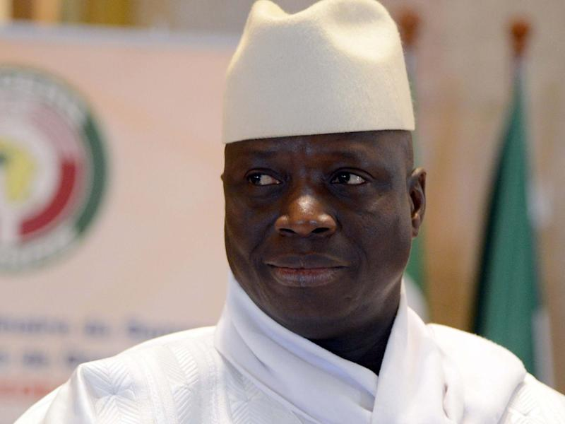 Former Gambia president Yahya Jammeh, who entered exile in 2017: AFP/Getty Images
