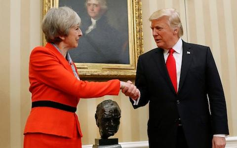 Mrs May was the first foreign leader to visit the US president, in January 2017 - Credit: AP Photo/Pablo Martinez Monsivais