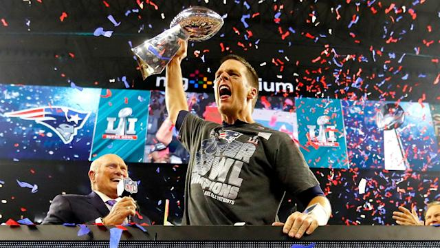New England Patriots owner Robert Kraft says Tom Brady believes he can play six or seven more years.