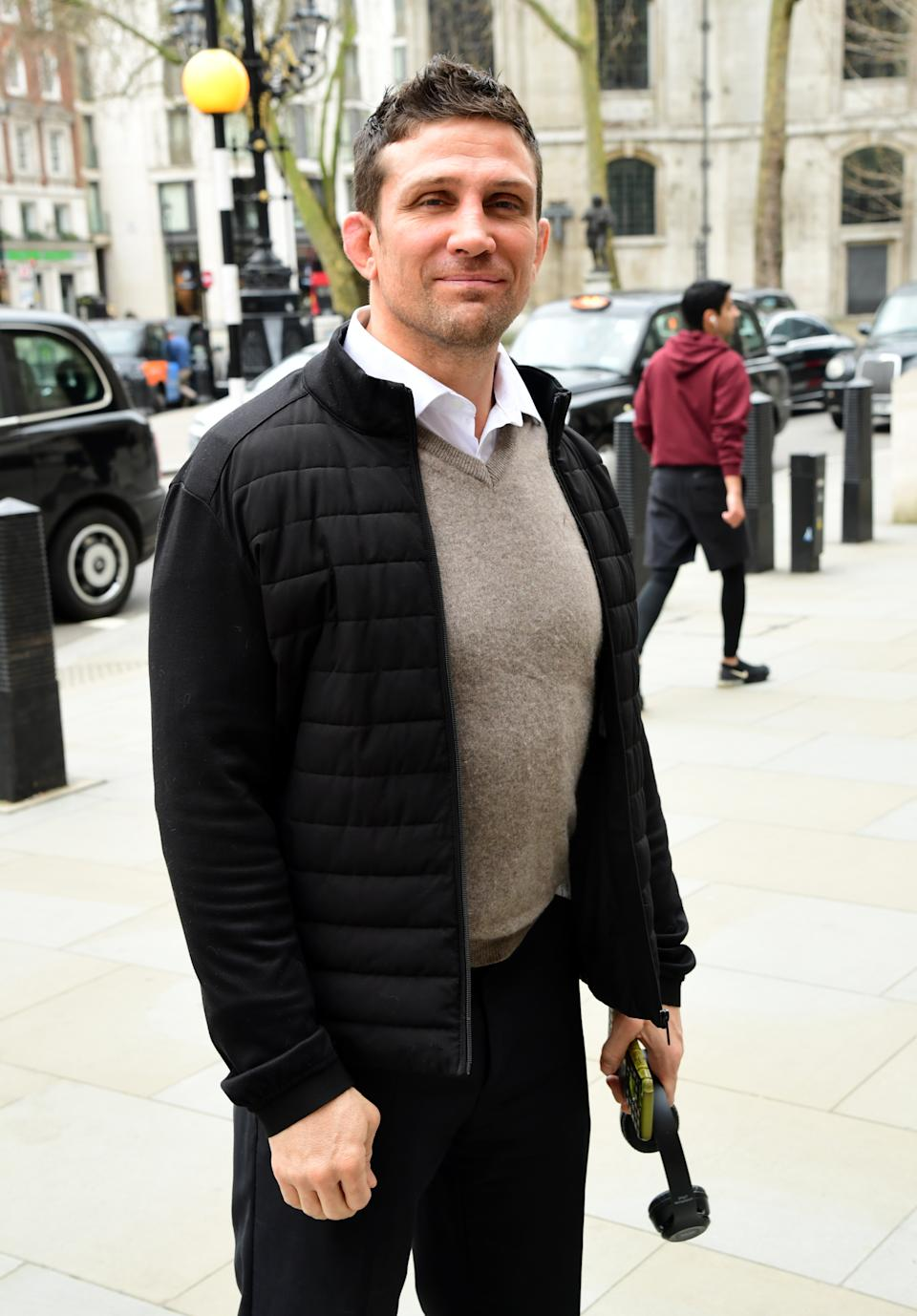 Alex Reid seen outside the High Court in London, before the ruling on damages in acase between himself and Katie Price.