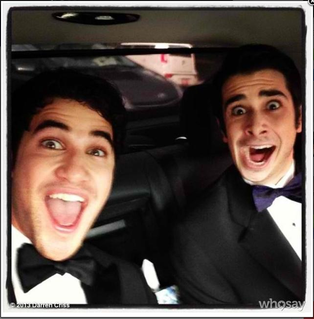 Alright, so now that @JoeyRichter is a big star on Glee, I decided he was cool enough to be my hot date to the @sagawards - @DarrenCriss