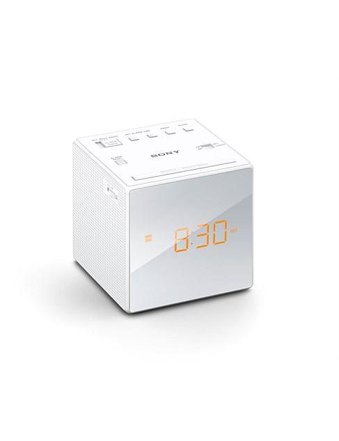Sony CFC1W Single Alarm Clock Radio - White, $39.95 from David Jones. Photo: David Jones.