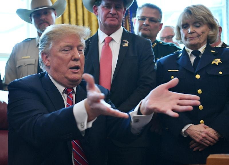 US President Donald Trump, speaking after a massacre at two mosques in New Zealand, said he doesn't think white nationalism presents a growing danger (AFP Photo/Nicholas Kamm)