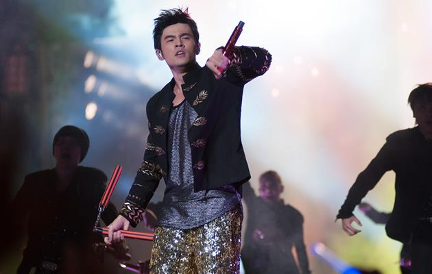 Jay Chou rocks the Padang stage (Yahoo! Photos/ Nick Tan)