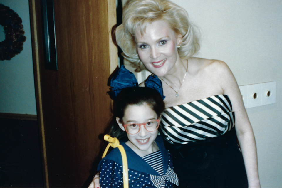 The author, at 9 years old, with her mother, Pam Eldred (Miss America 1970) in 1989, the first year she attended the pageant. (Courtesy of Hilary Levey Friedman)