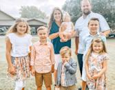 """<p>An April 2021 Instagram post revealed even bigger news: <a href=""""https://people.com/tv/anna-duggar-clapback-affording-7-kids-pregnant-expecting-7th-child-josh-duggar/"""" rel=""""nofollow noopener"""" target=""""_blank"""" data-ylk=""""slk:the impending arrival of baby No. 7"""" class=""""link rapid-noclick-resp"""">the impending arrival of baby No. 7</a>, a girl. </p> <p>""""We are overjoyed to announce baby seven is on the way and we can't wait to hold her in our arms this fall!"""" Anna wrote alongside the announcement. </p>"""