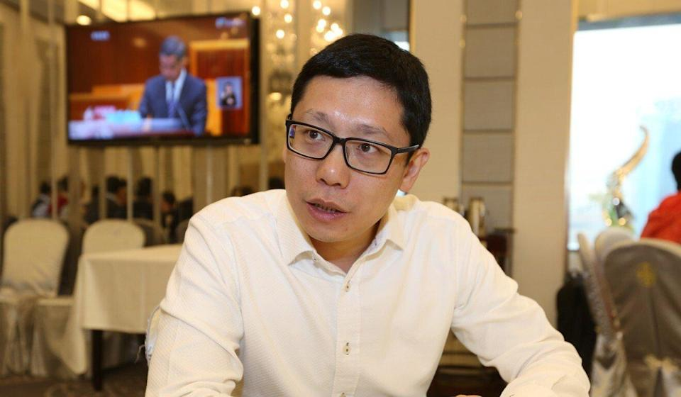 Restaurateur Simon Wong says many have put up the QR code since the app was launched some three months ago. Photo: Xiaomei Chen