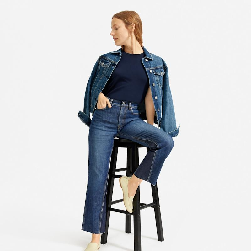 Everlane's Newest Jeans Give Me a Peach Emoji Butt