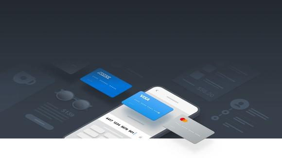 A sketch of Square's in-app payment processing feature
