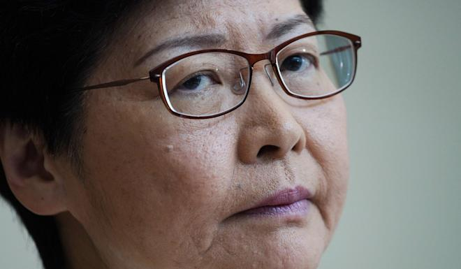 Hong Kong Chief Executive Carrie Lam issued a statement acknowledging that the people had spoken. Photo: AP