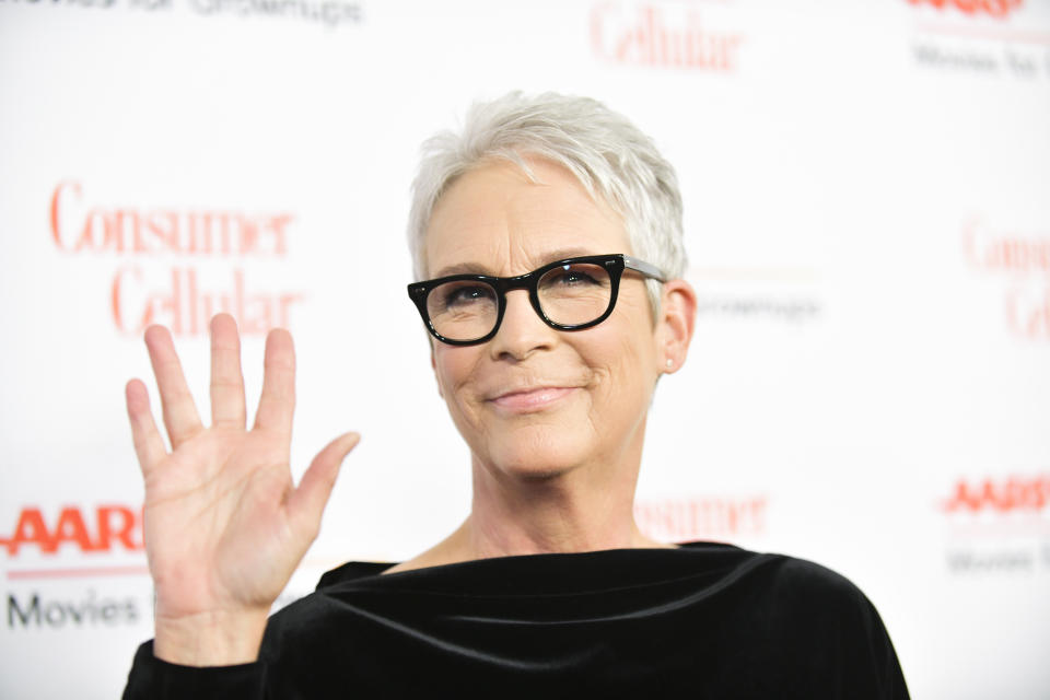 BEVERLY HILLS, CALIFORNIA - JANUARY 11: Jamie Lee Curtis attends AARP The Magazine's 19th Annual Movies For Grownups Awards at Beverly Wilshire, A Four Seasons Hotel on January 11, 2020 in Beverly Hills, California. (Photo by Rodin Eckenroth/FilmMagic)