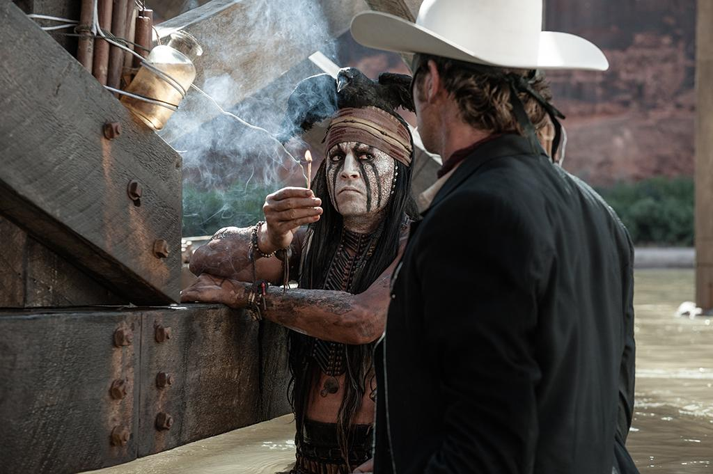 """Johnny Depp and Armie Hamer in Walt Disney Pictures' """"The Lone Ranger"""" - 2013"""