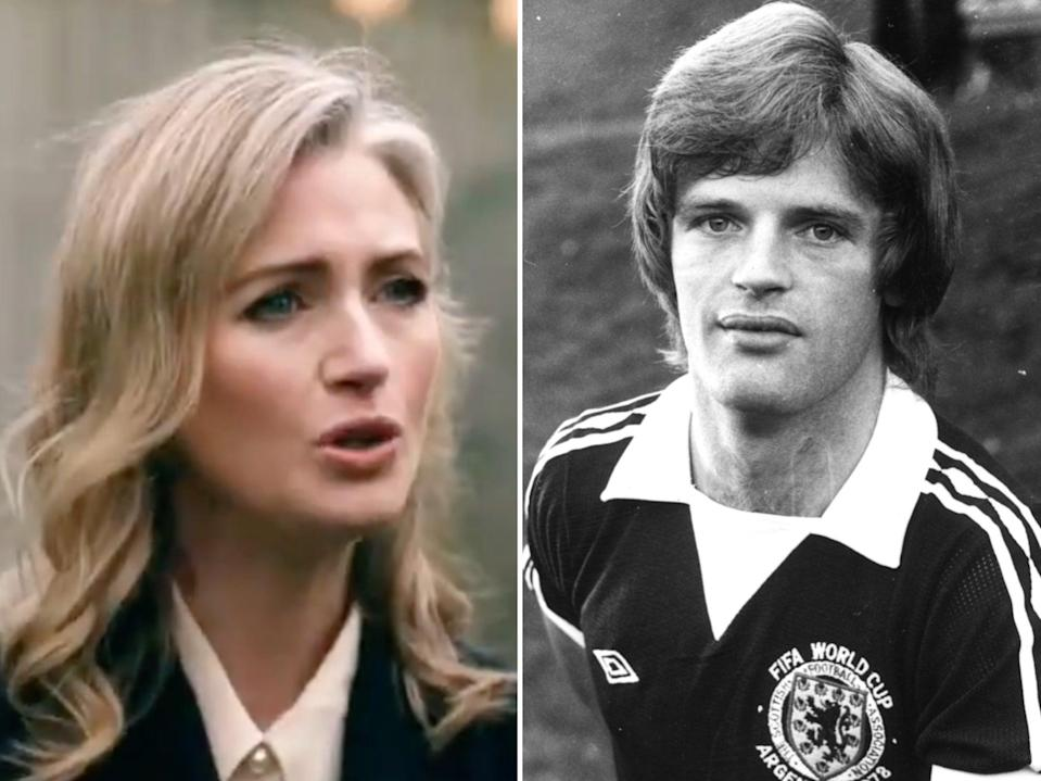 Hayley McQueen and father Gordon McQueen (BBC / Getty Images)