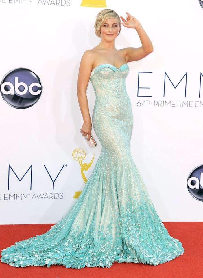 Julianne Hough arrives at the 64th Primetime Emmy Awards at the Nokia Theatre in Los Angeles on September 23, 2012.