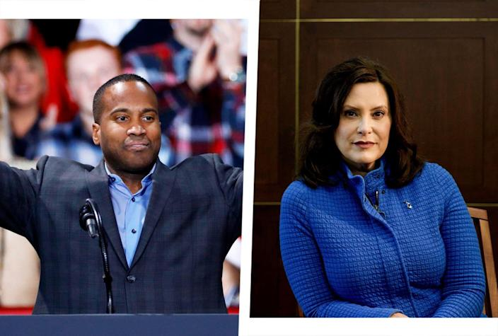 John James;  Gretchen Whitmer