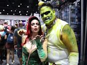 <p>Cosplayers dressed as Poison Ivy and Killer Croc from <i>Batman</i> at Comic-Con International on July 21, 2018, in San Diego. (Photo: Angela Kim/Yahoo Entertainment) </p>
