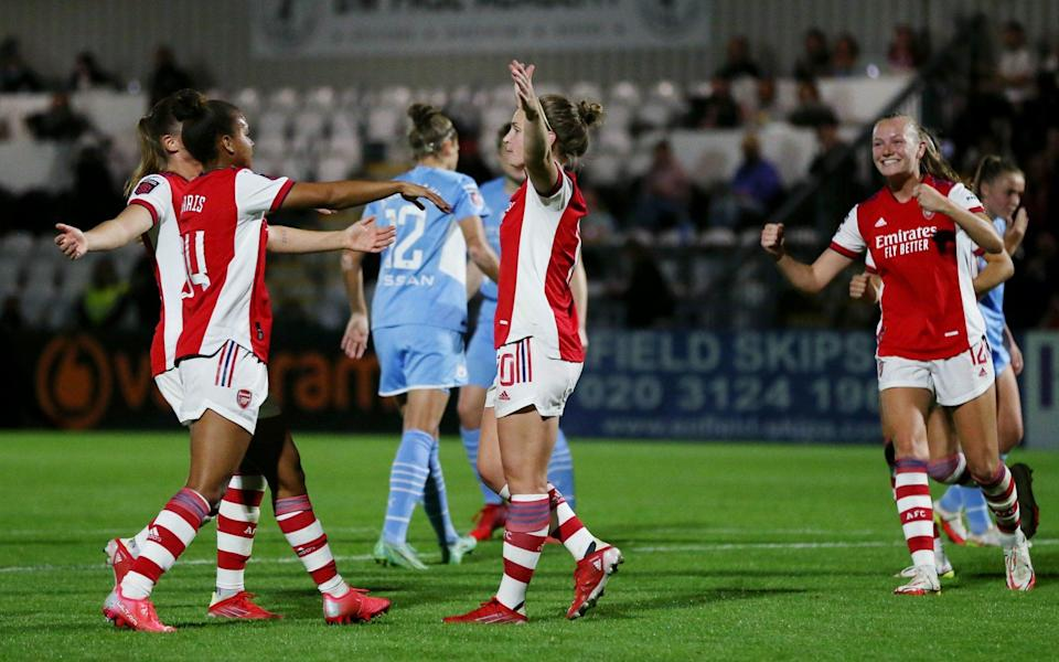 Kim Little scored two of Arsenal's five goals - GETTY IMAGES
