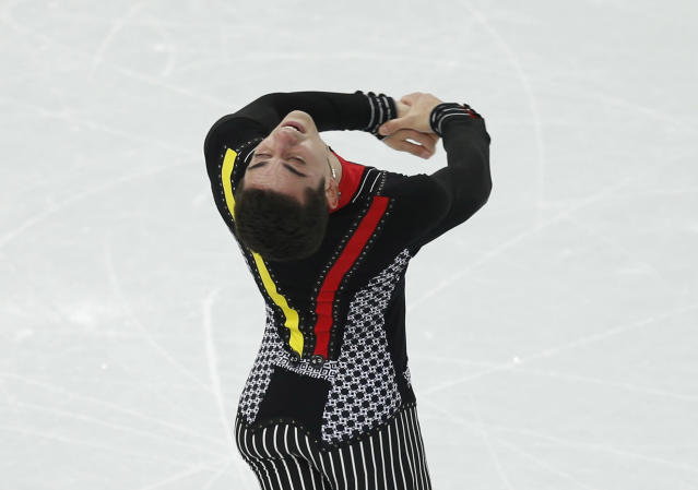 Spain's Javier Fernandez competes during the figure skating men's short program at the Sochi 2014 Winter Olympics, February 13, 2014. REUTERS/Issei Kato (RUSSIA - Tags: SPORT FIGURE SKATING OLYMPICS)