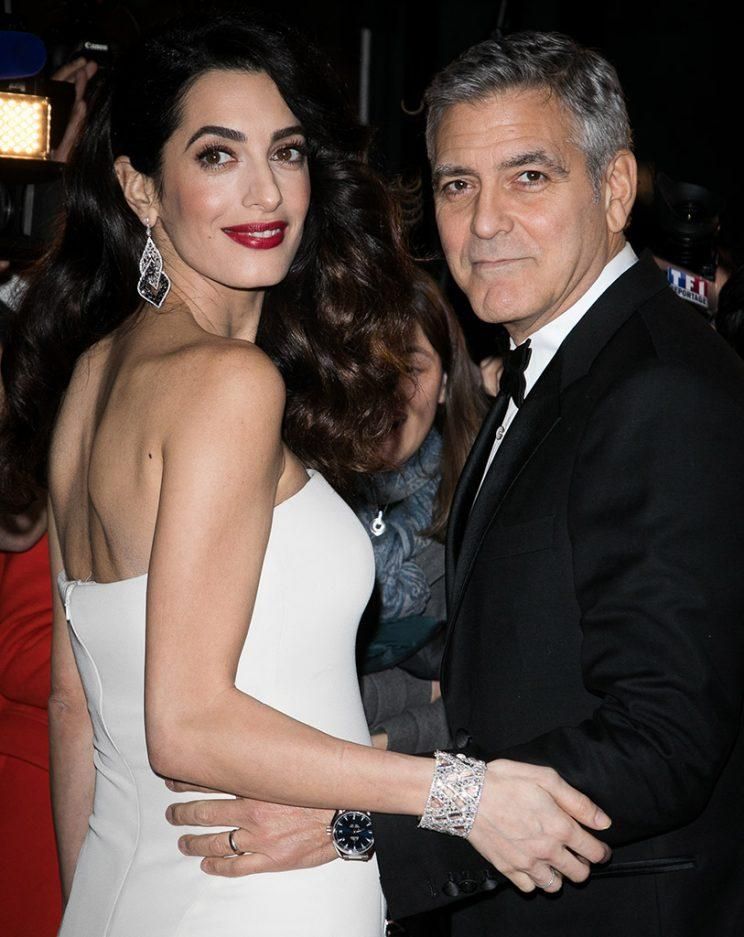 Amal and George Clooney step out in Paris. (Photo: Marc Piasecki/WireImage)