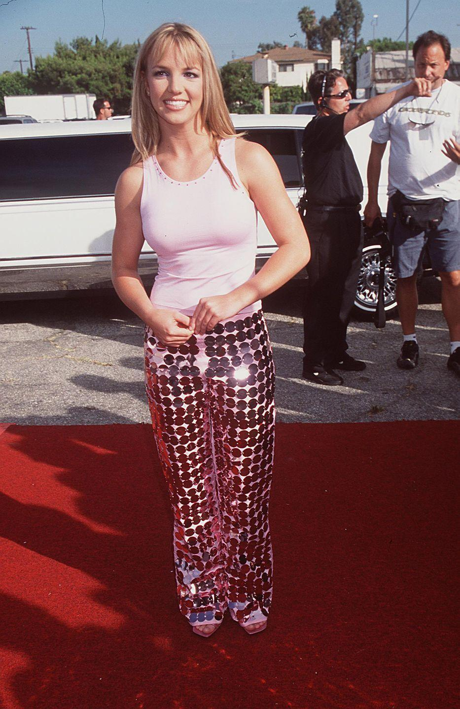 """<p>Britney Spears hits the red carpet for the 1999 Teen Choice Awards in Los Angeles. The pop star won Single of the Year for """"Baby One More Time,"""" obviously.</p>"""