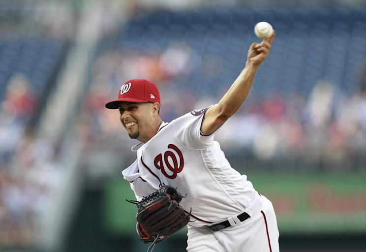 Washington Nationals' Gio Gonzalez has solid surface numbers, but he's not likely to keep it up. (AP Photo/Wilfredo Lee)