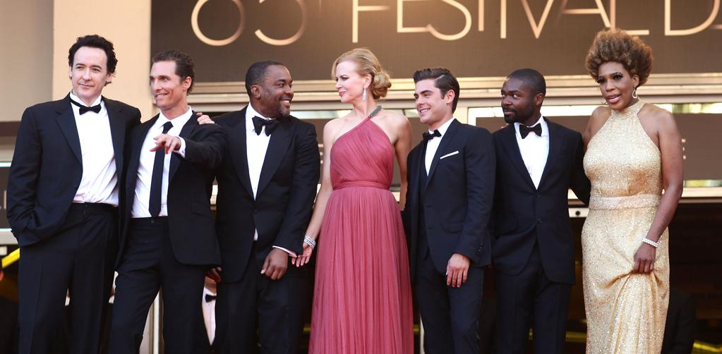 "John Cusack, Matthew McConaughey, director Lee Daniels, Nicole Kidman, Zac Efron, David Oyelowo and Macy Gray attend the ""The Paperboy"" premiere during the 65th Annual Cannes Film Festival at Palais des Festivals on May 24, 2012 in Cannes, France."