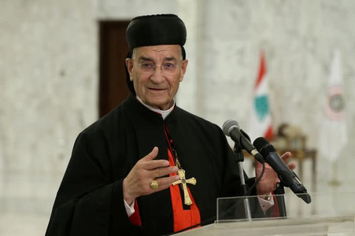 FILE PHOTO: Lebanese Maronite Patriarch Bechara Boutros Al-Rai speaks after meeting with Lebanon's President Michel Aoun at the presidential palace in Baabda