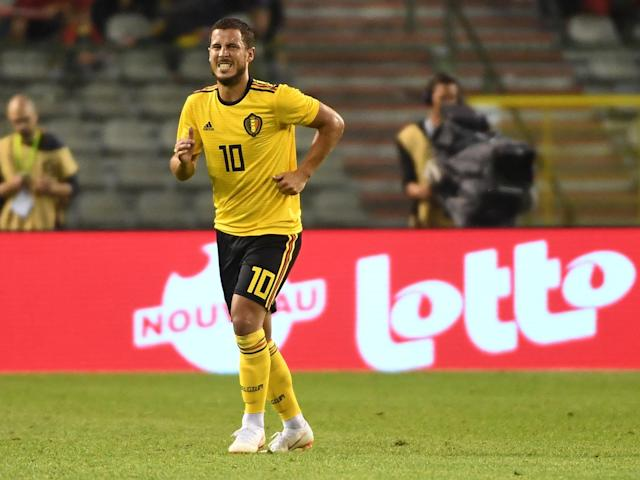 World Cup 2018: Roberto Martinez eases fears over Eden Hazard's injury after Belgium warm-up game