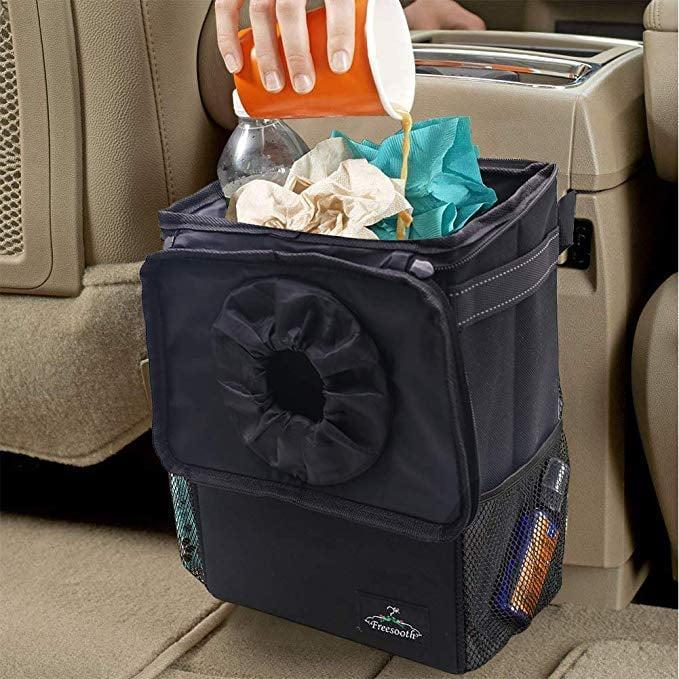 <p>The <span>Freesooth Car Garbage Can</span> ($17, originally $39) makes long road trips a lot more bearable by giving trash a home. </p>