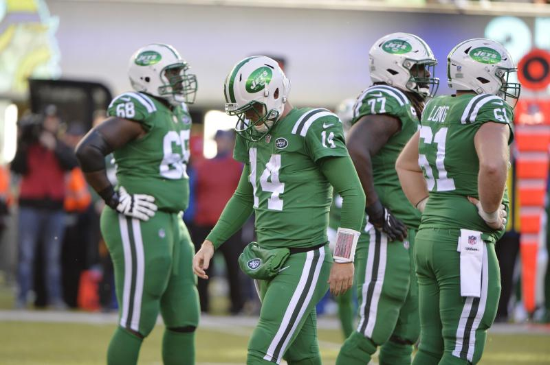 New York Jets quarterback Sam Darnold (14) will miss the game on Sunday with a foot injury. (AP)