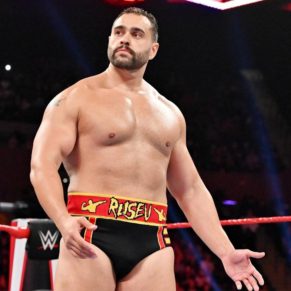 "<p>After a soft start in developmental, Rusev absolutely exploded onto the main roster of the WWE all the way back in 2014.</p><p>He had a strong Royal Rumble debut and bulldozed his way through countless feuds before picking up the United States Championship and setting himself on a collision course with John Cena.</p><p>He ultimately lost to Cena at WrestleMania 31 and despite some occasional moments since then he never quite regained that incredible initial momentum.</p><p>There were highs (Rusev Day!) lows (The League of Nations) and then that <a href=""https://www.digitalspy.com/tv/ustv/a29758501/wwe-rusev-defends-lana-bobby-lashley-affair-storyline/"" rel=""nofollow noopener"" target=""_blank"" data-ylk=""slk:oh-so weird final storyline with Lana and Bobby Lashley"" class=""link rapid-noclick-resp"">oh-so weird final storyline with Lana and Bobby Lashley</a>.</p><p>Rusev was maybe the biggest name to leave in <a href=""https://www.digitalspy.com/tv/ustv/a32160358/wwe-axes-oc-anderson-gallows-drake-maverick/"" rel=""nofollow noopener"" target=""_blank"" data-ylk=""slk:the COVID-19 round of axing"" class=""link rapid-noclick-resp"">the COVID-19 round of axing</a>, and he's definitely the one we miss most.</p><p>He's still a young man (only in his mid-30s) and, of course, was picked up by AEW where he fights as Miro.</p><p>But surely he has another WWE run left in him? And we'd love love love to see him rolling into Mania in a tank once more.</p>"