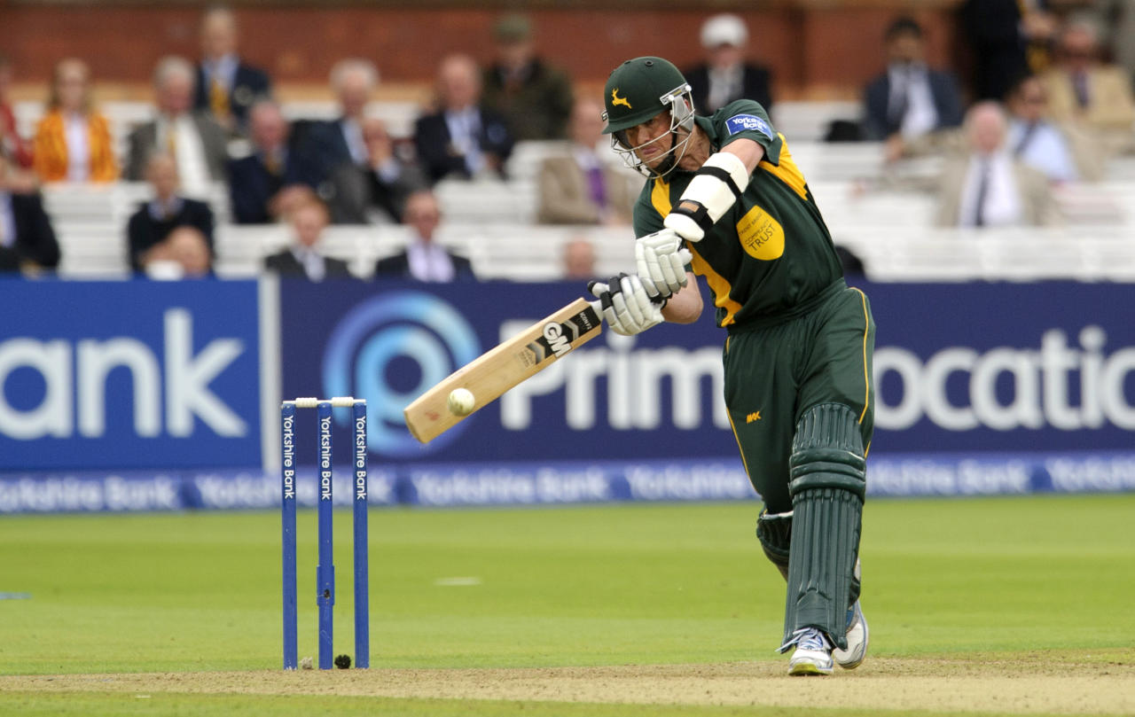 Nottinghamshire's Graeme Swann bats during the Yorkshire Bank Pro40 Final at Lord's Cricket Ground, London.