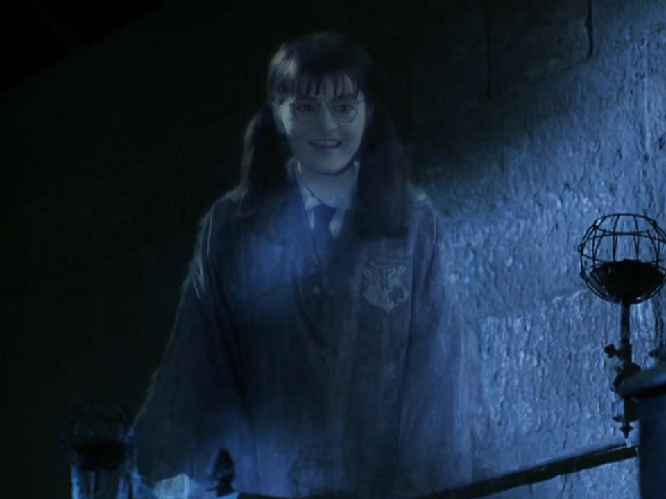 Myrtle was killed by the basilisk while she was a student at Hogwarts.