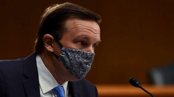 PHOTO: Senator Chris Murphy listens to testimony during the Senate Committee for Health, Education, Labor, and Pensions hearing on the coronavirus disease (COVID-19), in Washington, May 12, 2020. (Toni L. Sandys/Pool/Reuters)