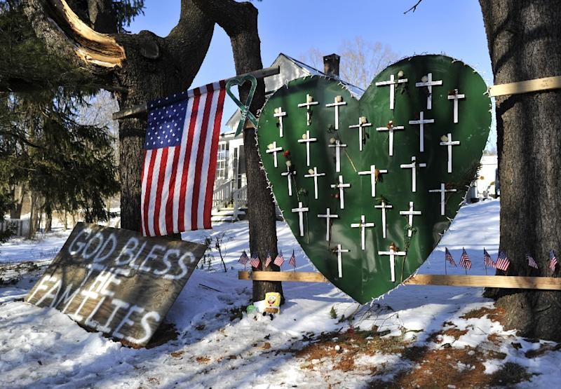 A gunman massacred 26 children and teachers during a 2012 shooting at the Sandy Hook Elementry School in Newtown, Connecticut