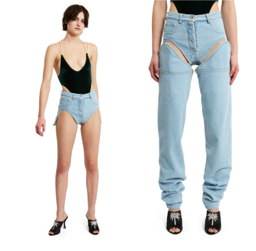 Two-in-one cut off jeans. (Photo: Opening Ceremony)