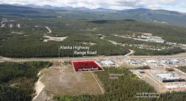 Site of a proposed drive-thru restaurant in Whitehorse.  (City of Whitehorse - image credit)