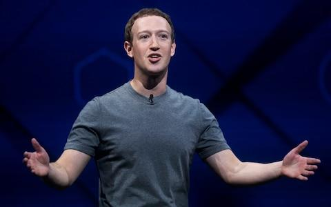 The Facebook CEO Mark Zuckerberg - Credit: Noah Berger/AP