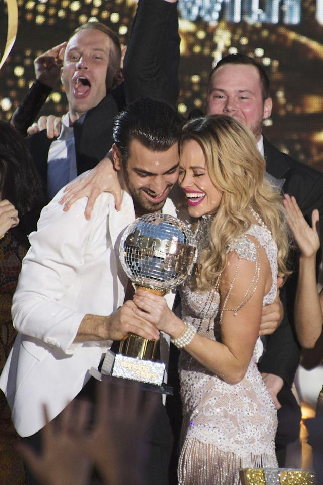 <p><em>America's Next Top Model</em> winner Nyle DiMarco and Peta won the Mirror Ball Trophy in the show's 22nd iteration. Nyle is the first person who is Deaf to win the dancing competition.</p>
