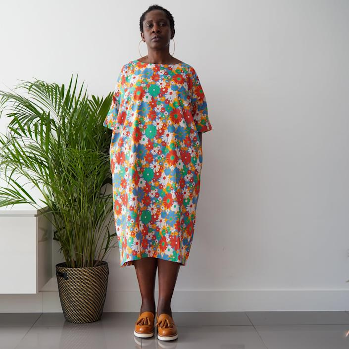"""<h3><a href=""""https://kemitelford.com/collections/dresses/products/modupe-garden-dress"""" rel=""""nofollow noopener"""" target=""""_blank"""" data-ylk=""""slk:Kemi Telford Modupe Garden Dress"""" class=""""link rapid-noclick-resp"""">Kemi Telford Modupe Garden Dress</a></h3><br><strong><em>The Optimist</em></strong><br><br>This unanimously top-rated cocoon dress had customers lighting up at its festive floral print — it brings a much-needed dose of joy, along with a chic and forgiving silhouette and a cool cotton weight that's perfect for summer.<em><br></em><br><strong>The Hype: </strong>5 out of 5 stars; 4 reviews on KemiTelford.com<br><br><strong>What They're Saying: </strong>""""When the sun is really shining I love wearing this dress as its cool cotton and colorful flowers really remind me of the joy of life and I'm comfortable all day long. When it gets a little chilly I throw on some leggings under and a cardigan on top. The wider neckline is flattering and I don't worry about my feminine lumps and bumps as it's roomy in all the right places."""" — Nicci, KemiTelford.com reviewer<br><br><strong>Kemi Telford</strong> Modupe Garden Dress, $, available at <a href=""""https://go.skimresources.com/?id=30283X879131&url=https%3A%2F%2Fkemitelford.com%2Fcollections%2Fdresses%2Fproducts%2Fmodupe-garden-dress"""" rel=""""nofollow noopener"""" target=""""_blank"""" data-ylk=""""slk:Kemi Telford"""" class=""""link rapid-noclick-resp"""">Kemi Telford</a>"""