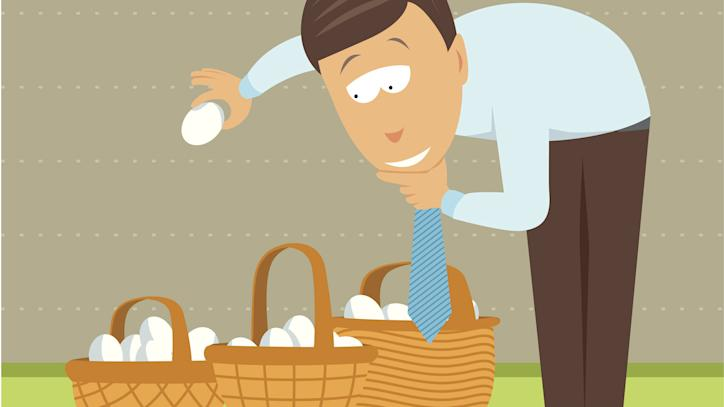 put eggs in one basket, diversity, portfolio, spread, plan, secure, overconcentrate