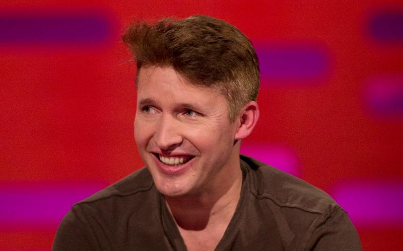James Blunt during filming of the Graham Norton Show  - PA