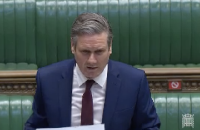 Sir Keir Starmer questioned Boris Johnson over care home deaths on Wednesday. (Parliamentlive.tv)