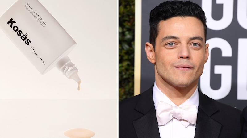 Best Actor Winner Rami Malek Debuted a New Beauty Product on the Golden Globes Red Carpet