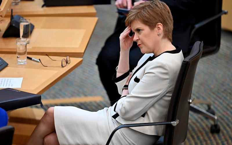 Nicola Sturgeon has defended the restrictions on students - PA