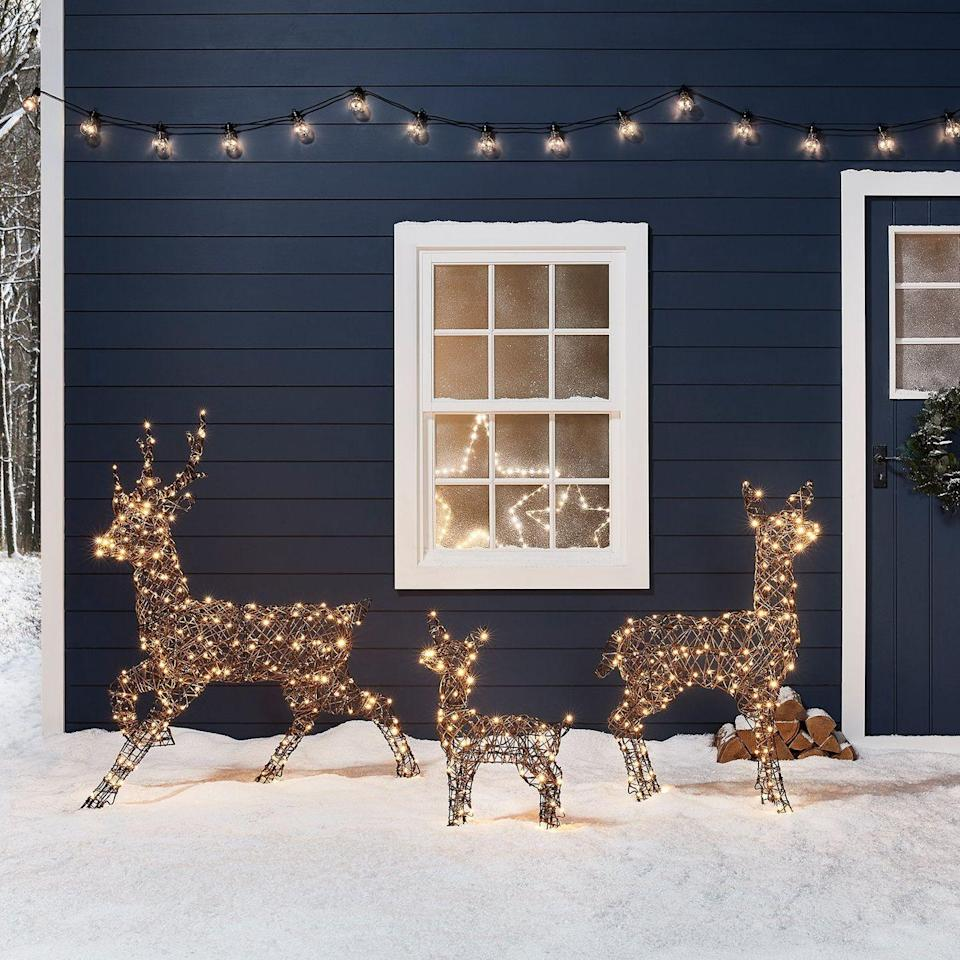 <p>If the front of your home is still looking a little bare—even after you hang up all of your Christmas lights—these lit-up reindeer would be the perfect addition.</p>
