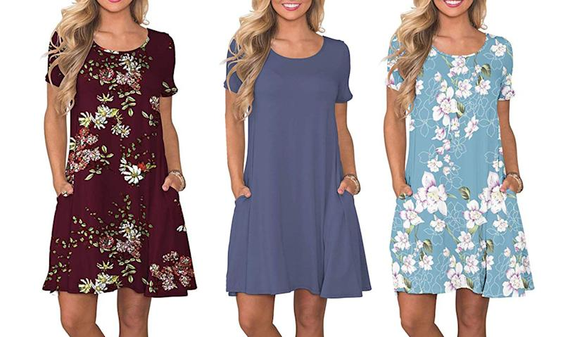 Amazon's Korsis dress is a a best seller on Amazon and it's under $25. (Photo: Amazon)